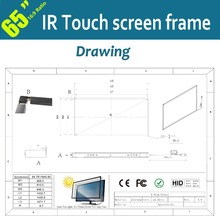 32 Points 65inch LCD Touch Screen Panel Without Glass High Sensitivity For Interactive Advertising / Fast Free Shipping
