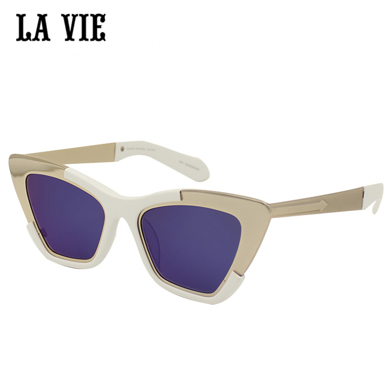 LA VIE Vintage Mirror Female Women Cat Eye Sunglasses Brand Designer Ladies Sun Glasses For women Oculos Feminino Gafas #1301507<br><br>Aliexpress
