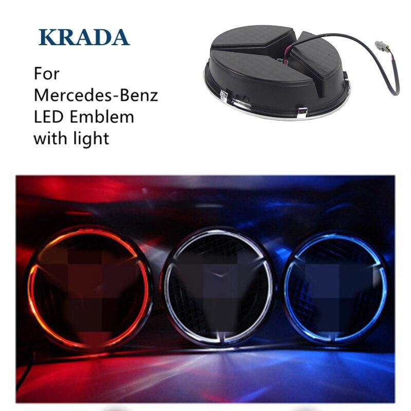 Car Styling for Mercedes Benz Amg W204 Cla Amg W204 W203 W211 W205 W124 W205 W210 Glk Gla Star Light Daytime Running LED Emblem<br>