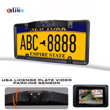 American license plate frame Automobile sensor HD Car Rearview Camera Backup Parking Reverse Camera For Monitor Rear View Camera(China)