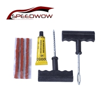 SPEEDWOW Car Auto Accessories Motorcycle Bicycle Tubeless Tire Tyre Puncture Plug Repair Tools Kits Tire Repair Kit(China)