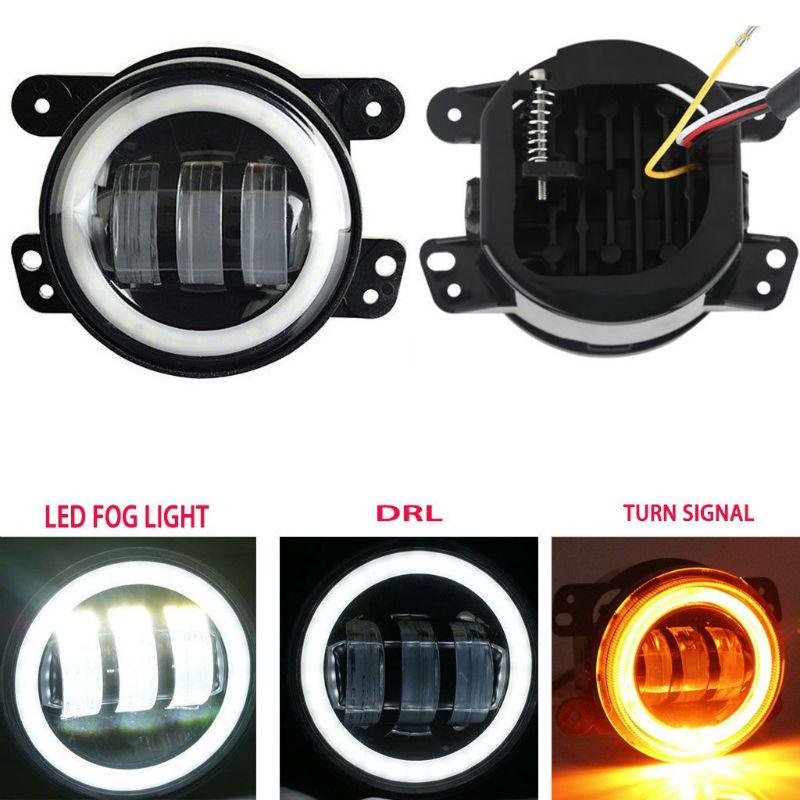 4inch led fog light day running light turn signal light7800