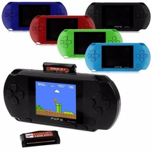 16 Bit PXP3 Handheld Game Players Handheld Game Player Pocket Video Game Console with AV Cable Support TV-out + Game Card(China)