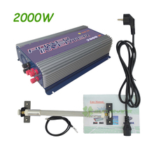 Free shipping ! 2000W Wind Power Grid Tie Inverter with Dump Load Controller for 3 Phase wind turbine AC input ,AC output
