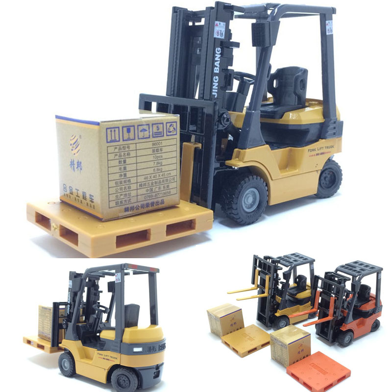 1:12 Scale Forklift Truck Model Car Construction Vehicle Collection Decoration