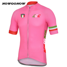 NEW 2017 100 ITALIA PINK Jersey hot / road RACE Pro Team Bicycle Bike Cycling Jersey / Wear / Clothing / Breathable NOWGONOW(China)