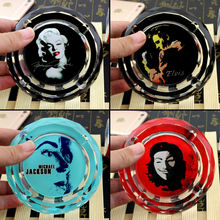Related Product Of Che Guevara Bruce Lee Monroe Elvis Presley Mao Michael Jackson Souvenir Creative Smoking Gift Crystal Ashtray(China)