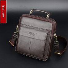 2016 hot sale men's messenger bags 100% natural genuine leather handbags Famous brand men fashion casual shoulder bags(China)