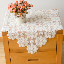senhot hollow out lace table covering cloth 60x60cm small kitchen living room covering cloth lace table cloth