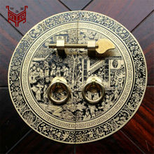 140mm 180mm 240mm 350mm Chinese antique furniture copper fittings cabinet handle shoe bookcase wardrobe door handle retro(China)