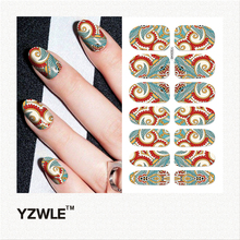 YZWLE 1 Sheet DIY Decals Nails Art Water Transfer Printing Stickers Accessories For Manicure Salon (YSD046)(China)