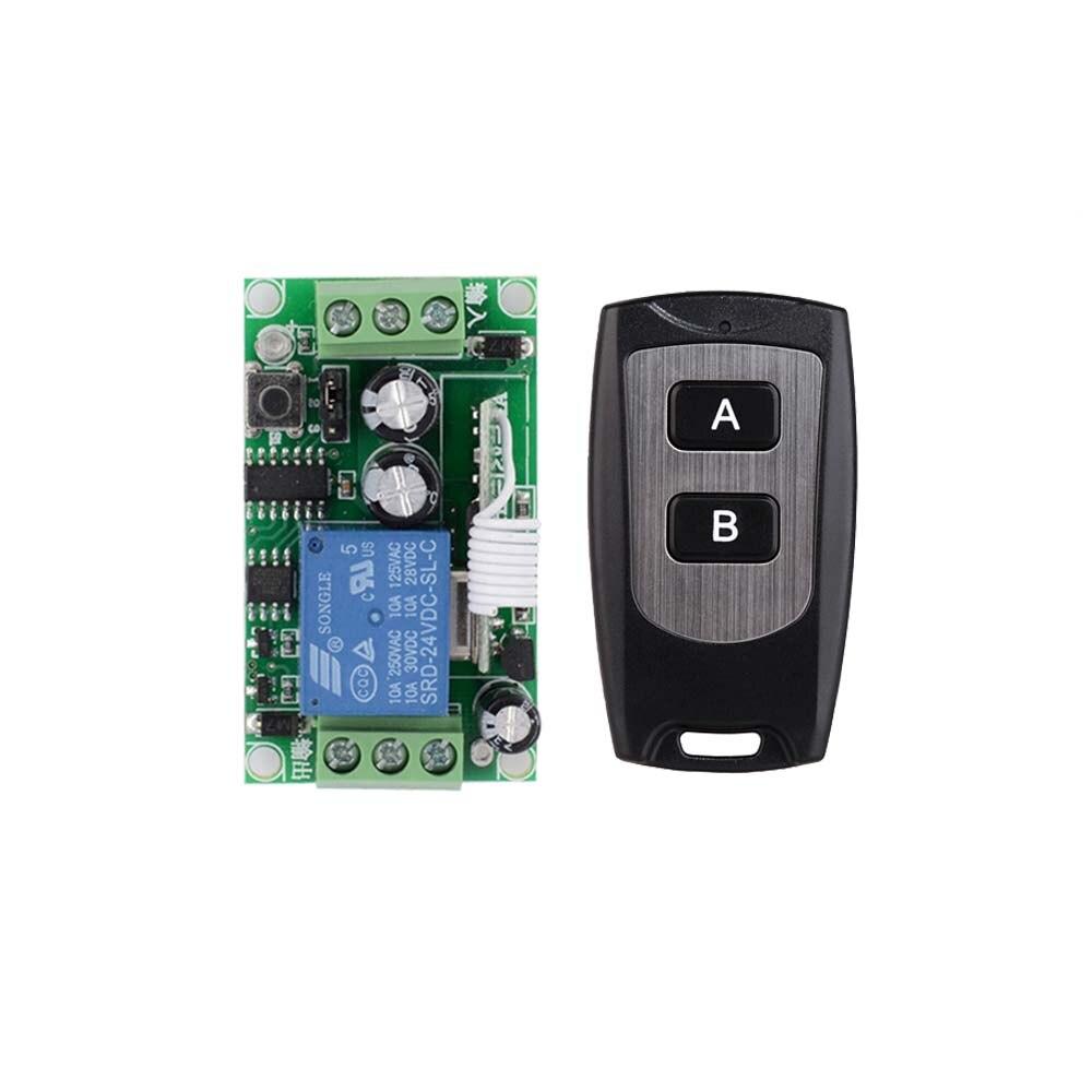 DC 24 V 1CH 10A Relay RF Wireless Remote Control Switch Wireless Light Switch  Receiver Transmitter<br><br>Aliexpress
