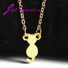 Fashion Anilmal Pendants Link Chain Gold-color Pet Necklace for Woman Factory Supplier Wholesale 2017