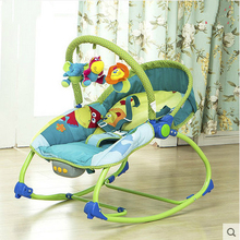 Mental Baby Rocking Chair Infant Bouncers Baby Kids Recliner Vibration Swing Cradle With Music