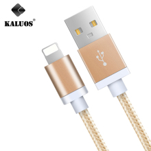 KALUOS 20CM 1M 1.5M 2M 3M USB Data Charging Cable For iPhone 5 5S 6 6S 7 Plus iPad 4 mini 2 3 Air 2 High Speed Phone Charge Wire