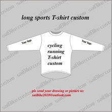 saiBIke Brand Manufacturer of Custom Cycling T-shirt/MTB Custom running Jersey men/women long collar sport T shirt