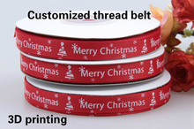 Sale by roll Customized your Logo DIY Thread ribbon Wedding Grosgrain belt width to choose 3D font vertical gift packing(China)
