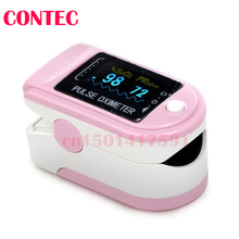1 free rubber PINK  Cheap New Design CMS50D Home Use Black Fingertip Pulse Oximeter With Color OLED Display Test Monitor  adult