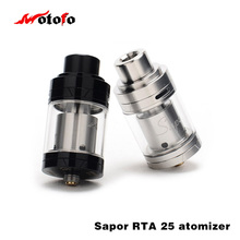 100% Original Wotofo Sapor RTA 25 Tank Top filling System large vapor rebuildable tank Genuine ecigarette atomizer(China)