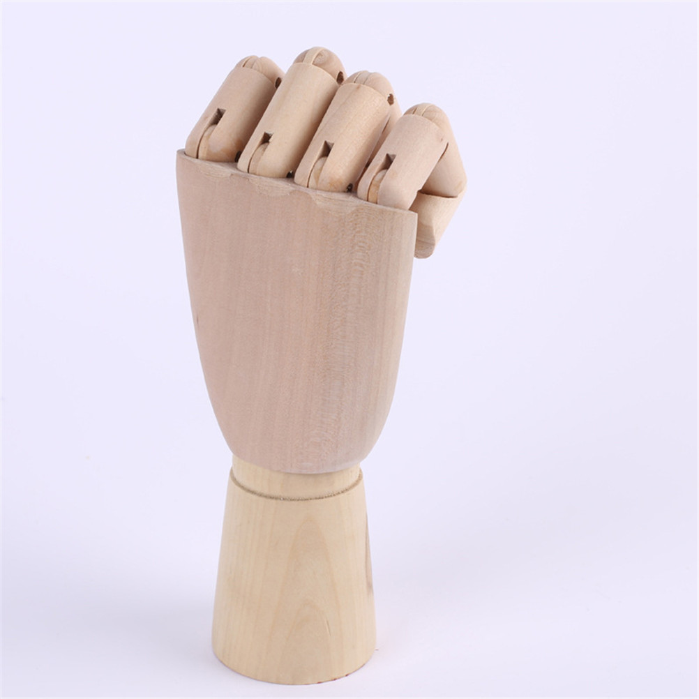 1PC Human Artist Model Wooden Hand Drawing Sketch Ornaments Mannequin Hand Movable Limbs Minatures Decor For Home Office Garden
