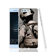 17693 Military Punisher cell phone Cover Case for huawei Ascend P7 P8 P9 lite Maimang G8