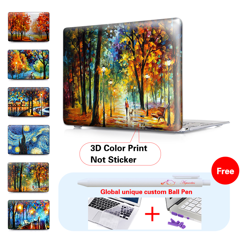 Print Natural Scenery Starry Night Pattern Case For Macbook Air 11 13 Pro 13 15 Crystal Hard Cover For Pro 13 15 With Retina<br><br>Aliexpress