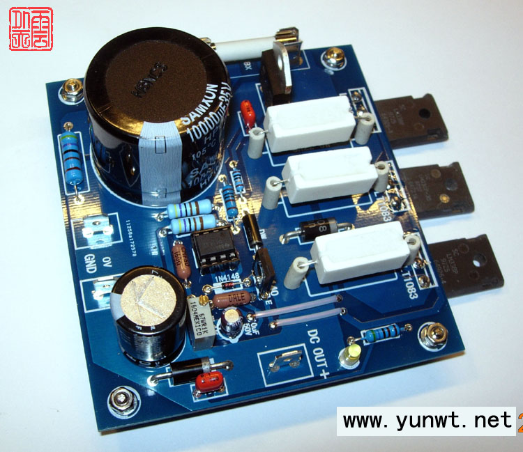 Assembled LT1083 Linear Adjustable Regulator Power Supply Board DC-DC Max 15A