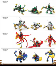Hot ninja saint beast go Dragon White Tiger Suzaku basalt building block lloyd kai zane cole figures bricks toys boys gifts - ToysKingdom store