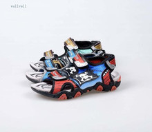 wallvell Exported to the Italian boy sandals exposed toe children's beach shoes