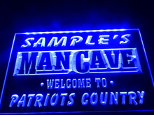 DZ036- Name Personalized Custom Man Cave Patriots Country Pub Bar Beer Neon Sign hang sign home decor  crafts
