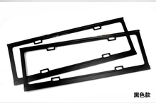 2 X Universal License Plate Stainless Steel Metal License Plate Frame For Car Auto  1 Pair=2pcs