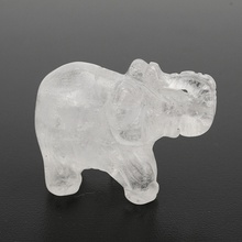 Modern White Crystal Elephant Figurines Paperweight Crafts Ar Collection Souvenir Birthday Christmas Gifts Home Office Decor