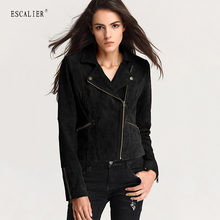 Escalier Winter Women's Genuine Leather Jackets Women Basic Coats Slim Zipper Soft Leather Coat Comfortable Jacket