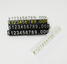 Free Shipping Acrylic $ Price Label Dollar Combination Price Tag Pricing Tags Jewelry Store Accessories(China)