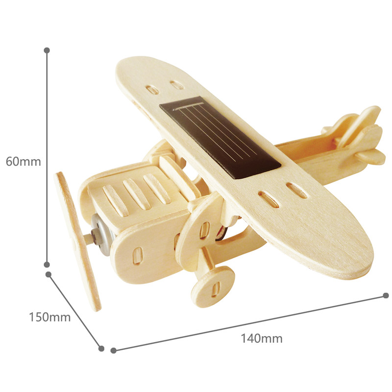 Robud 11 Kinds Solar Energy Powered Plane 3D Wooden Model Building Popular Creative Toys Hobbies Gift for Children,Teens P250 33