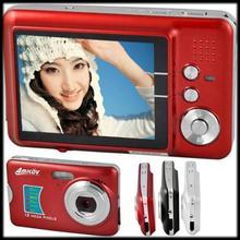 "by DHL or EMS 100 pieces Anti-shake rechargeable lithium battery 12.0 MP 2.7""TFT LCD digital camera 8X digital zoom"