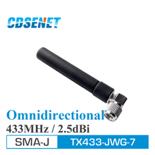 10Pcs Omnidirectional Wifi uhf Antennas 433MHz TX433-JWG-7 2.5dBi SMA Male 433 MHz Omni Directional Antenna For gsm fm rf Module