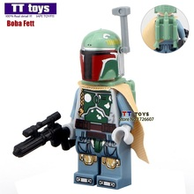 In-stock Single Sale #260 Green Boba Fett Star War 7 The Force Awakens Bounty Hunter Mini Dolls Building Block Children Gift Toy