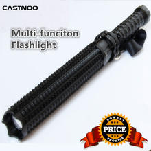 Powerful 8000LM CREE Q5 LED Spiked Mace Baseball Bat Long Flashlight 18650 battery Security Self-defense Torch Lamp 3 Mode