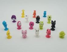 50PCS/bag good Cupule kids Cartoon Animal Action Figures toys Sucker kids Mini Suction Cup Collector Capsule model(China)