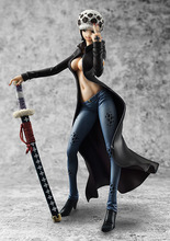 Action figure One Piece Female POP Trafalgar Law 21cm PVC sexy girl Heroes Zero The Surgeon of Death Kids Toys Dolls Model Anime
