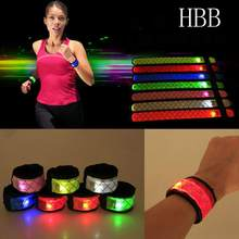 HBB Novelty LED Light Flashing Wrist Band Armband Hairband Safety Running Sport Wholesale Promotions Deserve to Have