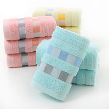 Hot Sell 100% Cotton Hand Face Towel- 34x74cm -Promotion Towel Cotton Wedding Gift Towel Free Giveaway Hand &Face Towel