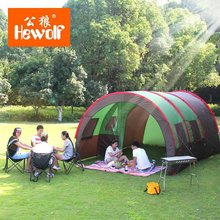 Hewolf 5-8 person large space family party tent one room two halls camping tent