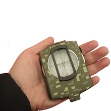 green color U.S. Army Professional Multifunctional Luminous handheld compass with ruler level outdoor car compass(China)