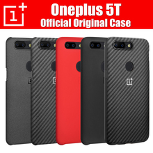 For Oneplus 5t Case One Plus 5t Original Case Cover Official Coque Fundas Mobile Phone Accessory Hard Protective Back Sandstone(China)