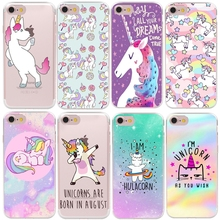 Buy RUICCASE Matte Hard Plastic Cute Hippo Unicorn Horse Case Cover Apple iPhone 8 7 X 6 Plus 5 5S SE Transparent Phone Cases for $1.49 in AliExpress store