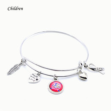 Ice Hockey Children Jewelry Florida Panthers Charms Bracelet&Bangle Kids Child NHL Sport Bracelet Accessories 2018 New(China)