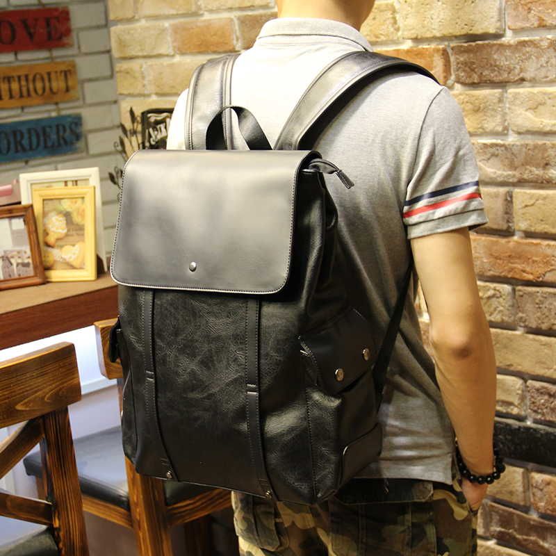 Xiao.p Hot Sale PU Patent Leather Backpacks Western Style Fashion Bag For Men Laptop&amp;Casual Travel Mochila Casual Bags<br><br>Aliexpress