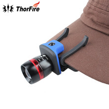 ThorFire 3 Modes Zoomable XPE LED Cap Light Headlamp155 lumen Adjustable Cap Hat Head Lamp Light Riding headlamp for AAA(China)